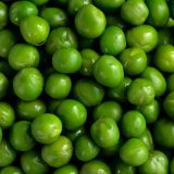 Close up image of peas