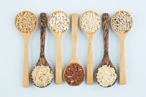 Ancient grains on spoons