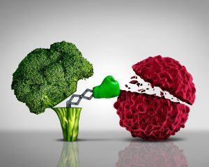 Image of broccoli fighting pathogen