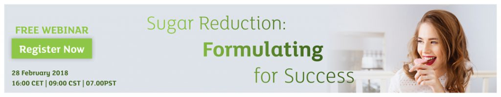 Free webinar Feb 28th - Sugar Reduction: Formulating for Success