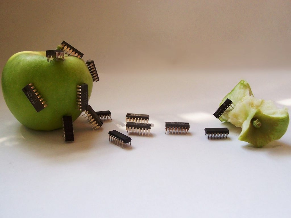 Apple with technology image
