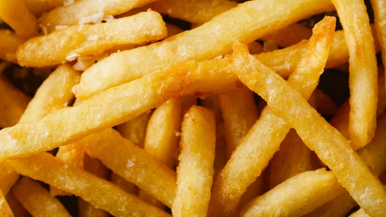 Close up image of french fries