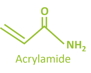 Chemical structure of acrylamide