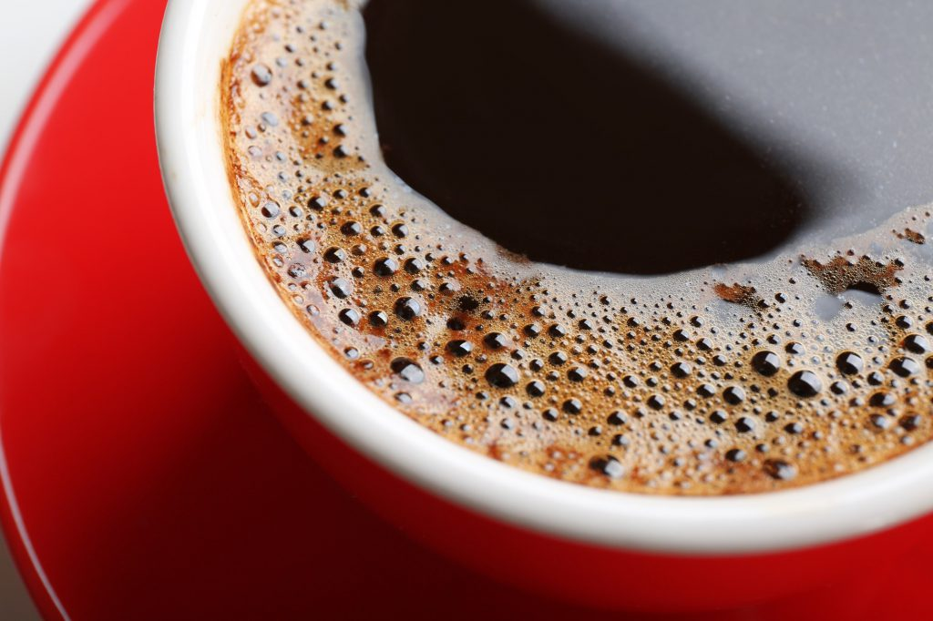 Close up image of cup of coffee