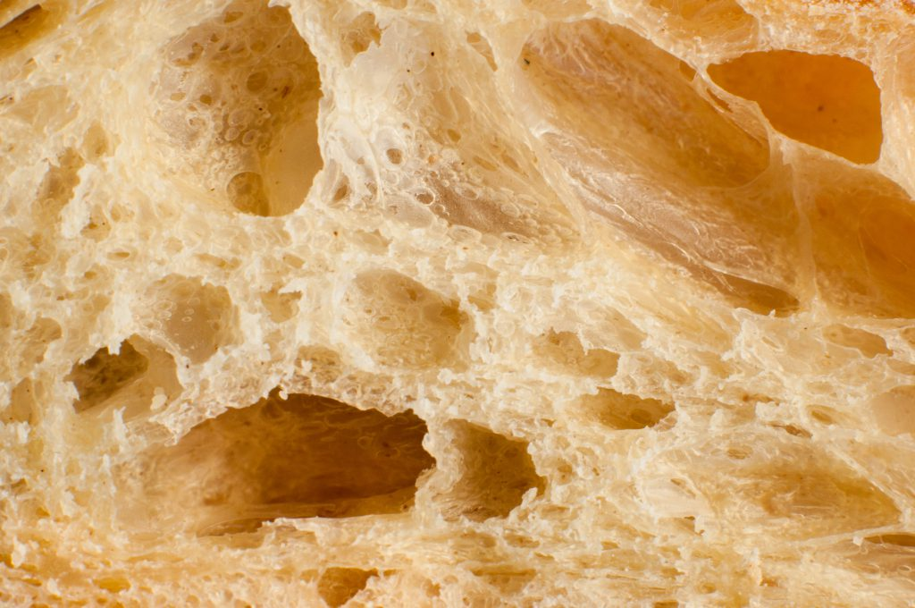 Close up of bread slice