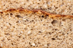 Close up of sliced wheat bread